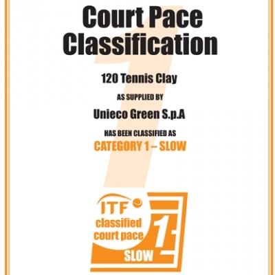 Искусственная трава для тенниса - 120 TENNIS CLAY