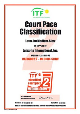 ITF Pace Classification Certificate MEDIUMSLOW Category 2 0210101.0210102 resize